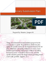 The Preliminary Subdivision Plan