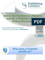 UTM How to Get Published in a Research Journal March 2014