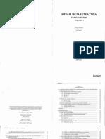 Metalurgia Extractiva Volumen I Fundamentos, Antonio Ballestar