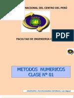 Clase 01 Métodos Númericos