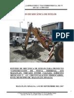 Estudio Mecanica de Suelos Unidos Sinaloa PDF