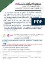 Presentacion de Logros - Proyecto Anda, Corre y Cuenta 2017