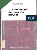 Luypen - Fenomenología Del Derecho Natural
