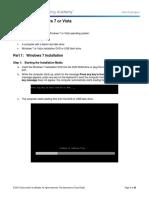5.2.1.7 Lab - Install Windows 7 or Vista