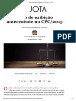 Ação de Exibição Antecedente No CPC_2015 – Fernando Gajardoni