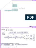 3.5a Ejercicios de Ecuaciones Cuadraticas