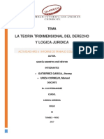 La Teoria Tridimensional Del Derecho