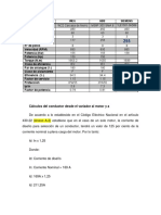 Cálculos Del Conductor Desde Sala de Variadores Al Motor y a La LCB