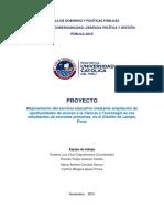 Arequipa - Proyecto Mejoramiento Del Servicio Educativo Mediante Ampliacion