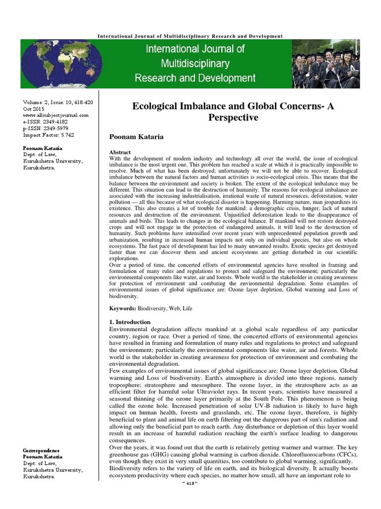 essays depletion of forest and ecological imbalance