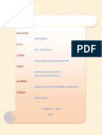 Estructura de Datos Multidimensionales