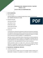 Huancayo - Proyecto Fortalecimiento de La Unidad de Gestion de Conflictos Sociales