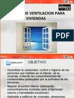 Presentación de Sistemas de ventilación para  viviendas