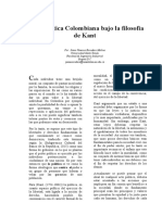 Clase Politica Colombiana Bajo La Filosofia de Kant