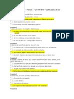 Revisoria Fiscal Parcial y Examen Final