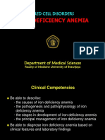1) Iron Deficiency Anemia