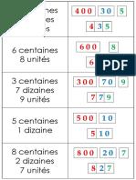 Cartes Grands Symboles Et Unites Dizaines Centaines...