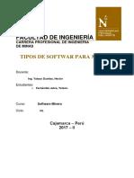 TIPO DE SOFTWARE - MINAS