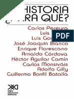 Luis González - Historia Para Qué