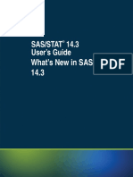 SAS STAT 14.3 Whatsnew