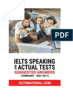 IELTS Speaking and Actual Test