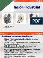 Ventilación industrial de acuerdo a normativas