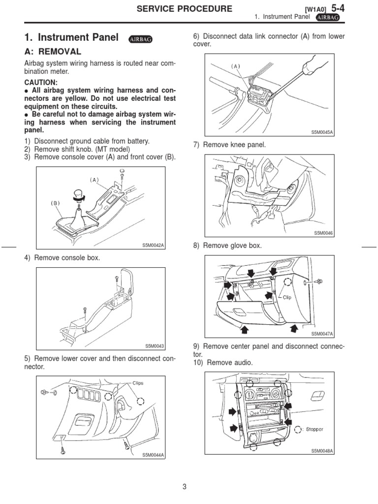 Subaru Forest Electrical Connector Equipment Removing Wires From Harness