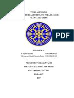 SAP 7 Pengaruh Faktor Politis Pada Standar Akuntansi (Kasus)