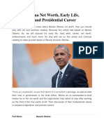 Barack Obama Net Worth, Early Life, Professional and Presidential Career