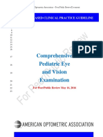 AOAPeerReview Pediatric Guideline Eye Exam