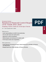 Reinforced Financial Control Requirements of EU Funds S-1706-DMW