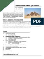 Teorías Sobre La Construcción de Las Pirámides