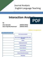 Interaction Analysis Midtermtest