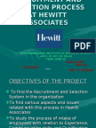 Recruitment and Selection Process at Hewitt Associates