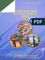 Statistik Daerah Kecamatan Anjungan 2014 2