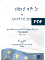 EU Pharmacopoeia Hot Topics