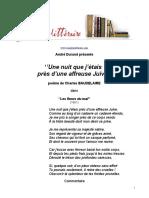 507 Baudelaire Une Nuit Que j Etais Pres d Une Affreuse Juive