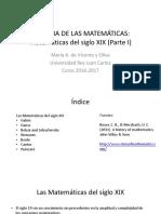 Las Matemáticas Del Siglo XIX Parte I