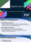Manajemen Mutu Pelat Manaj Puskesmas 15 Okt 2016