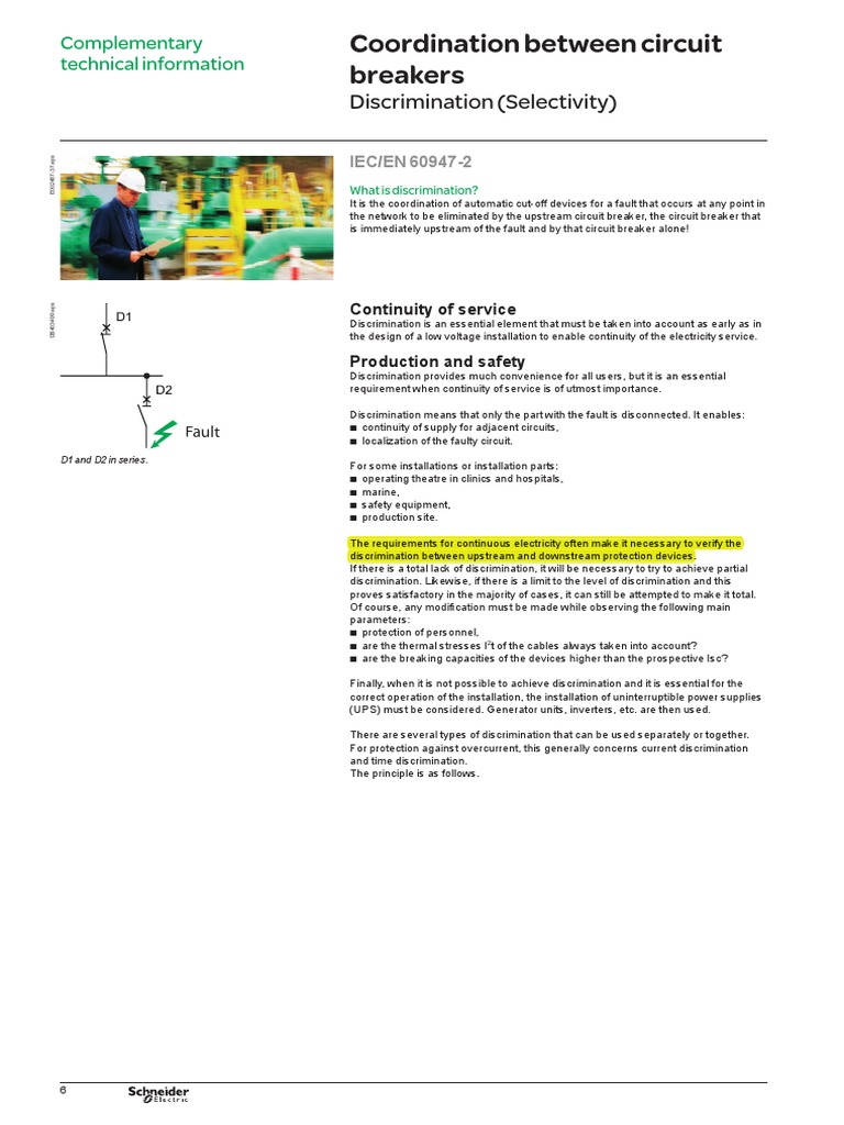 Discriminationpdf Power Physics Force Basic Uninterruptible Supply Circuit