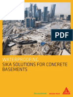 Sika Solutions for Watertight Basement Structures
