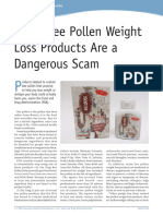 Some Bee Pollen Weight Loss Products Are a Dangerous Scam