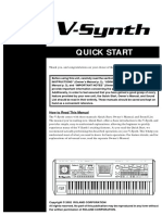 V SYNTH Quickstart