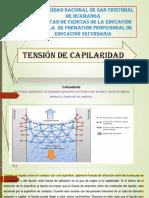 Diapositivas de Tension Capilaridad