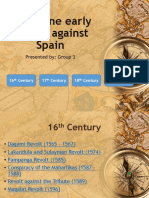 Philippine Early Revolts Against Spain