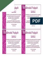 Label Aqiqah