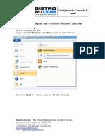 Configurar Conta de Email-Live-Mail