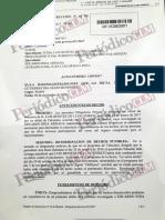 Auto en el que Inda admite que se inventó la condena contra Benítez de Lugo