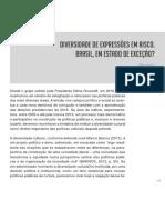 Diversidade de Expressões Em Risco. Brasil, Em Estado de Exceção de Kátia Costa e Plínio Rattes