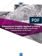 Applying Behavioural Insights to Specific Policy Issues and Collaboration at Eu Level